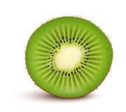 Fresh kiwi fruit Slice. Isolated on white background. Vector Illustration Royalty Free Stock Photo