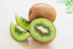 Fresh kiwi fruit and sliced Stock Photo