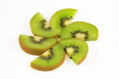 Fresh kiwi fruit slices Royalty Free Stock Photography