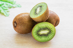 Fresh kiwi fruit on table Royalty Free Stock Images