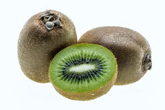 Fresh kiwi fruit on white background. Royalty Free Stock Image