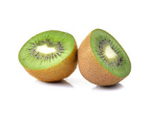 Fresh kiwi fruit on white background Stock Image