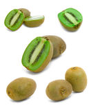 Fresh kiwi fruits isolated on white background Stock Photography