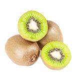 Fresh kiwi fruits on white background Stock Photography