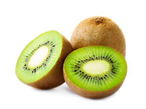 Fresh kiwi isolated on white. Fresh sliced kiwi isolated on white Stock Photo
