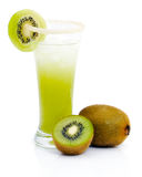 Fresh kiwi juice Stock Images
