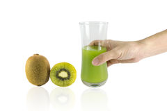 Fresh Kiwi Juice Stock Photos