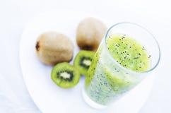 Fresh Kiwi Juice And Kiwi Fruit Stock Photos
