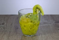 Fresh kiwi juice for weight loss and maintaining a healthy lifestyle. royalty free stock photography