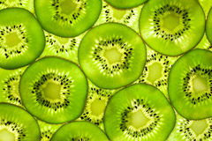 Fresh Kiwi pattern / background / back lit Stock Image