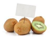 Fresh kiwi with price tag Stock Photos