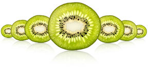 Fresh kiwi slice Stock Image