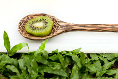 Fresh kiwi sliced. Royalty Free Stock Photography