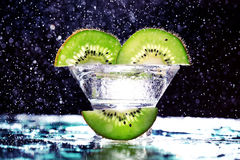 Fresh kiwi slices Royalty Free Stock Photo