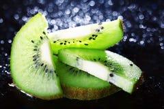 Fresh  kiwi slices Stock Photography