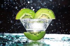 Fresh kiwi slices Stock Images
