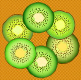 Fresh kiwi slices Royalty Free Stock Photo