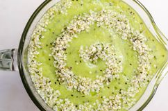 Fresh Kiwi Smoothie Stock Images
