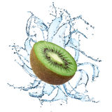 Fresh kiwi with water splash Stock Image