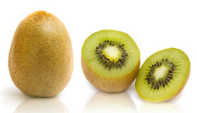 Fresh kiwi on white Stock Images