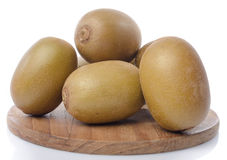 Fresh kiwi on wooden board Royalty Free Stock Images