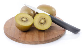 Fresh kiwi on wooden board Royalty Free Stock Image