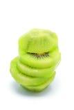 Fresh kiwifruit. Fresh pieace of kiwifruit on white background Royalty Free Stock Image