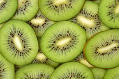 Fresh kiwifruit slices close-up on the table Royalty Free Stock Photography
