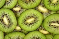 Fresh kiwifruit slices close-up on the table Stock Photo