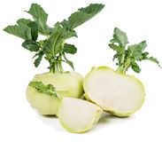 Fresh kohlrabi Stock Images