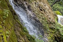 Fresh Krushuna waterfalls cascade in deep forest and rock Royalty Free Stock Photo