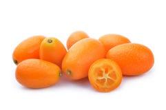 Fresh kumquat fruit. Isolated on a white background Stock Image
