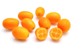 Fresh kumquats Royalty Free Stock Photography