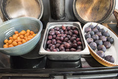 Fresh Kumquats, Plums, Figs Royalty Free Stock Image