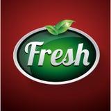 Fresh label button vector Stock Photo