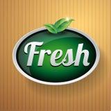 Fresh label button vector Stock Photos