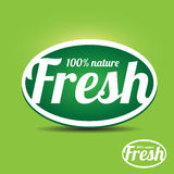 Fresh label nature Stock Photography