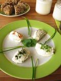 Fresh Labneh - Strained yogurt Royalty Free Stock Photography