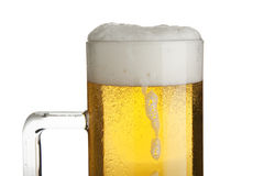 Fresh lager beer close up Stock Photography