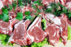 Fresh Lamb Chopped Rack, XXXL Royalty Free Stock Images