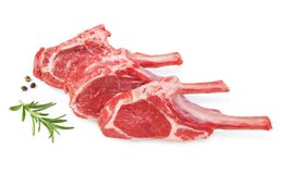Fresh lamb cutlet  with  rosemary and pepper Royalty Free Stock Images