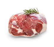 Fresh lamb leg with rosemary twig Royalty Free Stock Photography