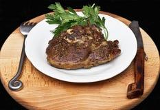 Fresh lamb meat steak Royalty Free Stock Photos