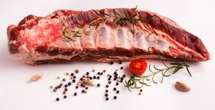 Fresh lamb meat on a white background.  Royalty Free Stock Photo