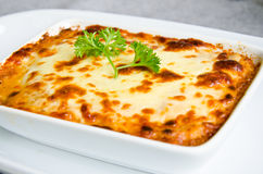 Fresh lasagna. Royalty Free Stock Photography