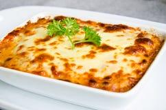 Fresh lasagna. Royalty Free Stock Photography