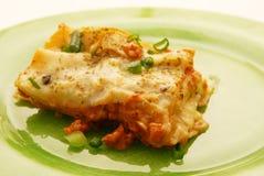 Fresh lasagna. With ragu sauce Stock Image