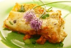 Fresh lasagna. With ragu sauce Royalty Free Stock Photos