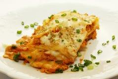 Fresh lasagna. With ragu sauce Stock Images