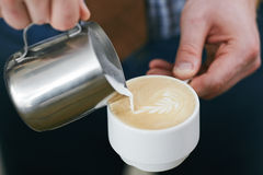 Fresh latte Royalty Free Stock Image